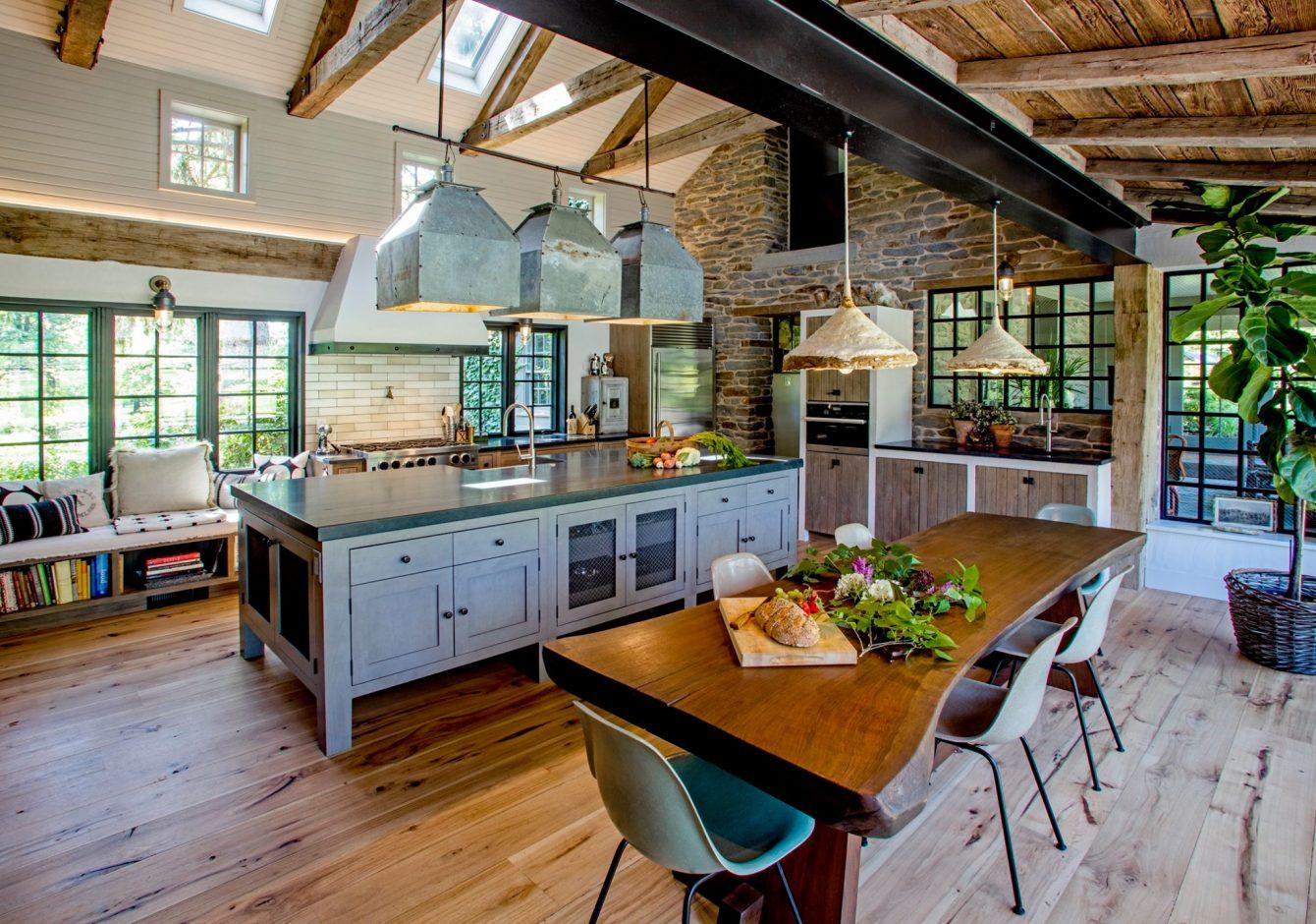 """Grand Textured Charm""- Bedminster Historic Farmhouse Kitchen Renovation"