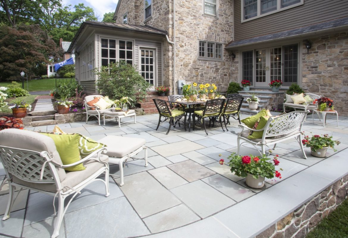 """Naturally Beautiful""- Doylestown Borough Flagstone Patio"
