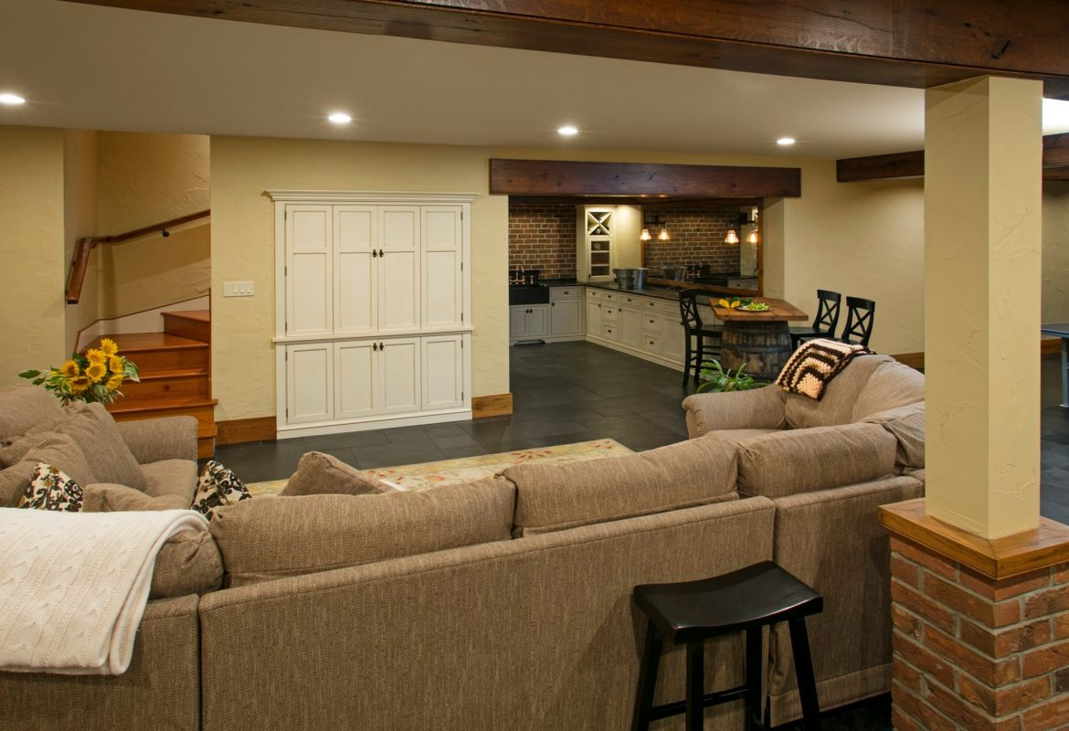 """Barrel Ceiling Basement- Newtown Basement Renovation"