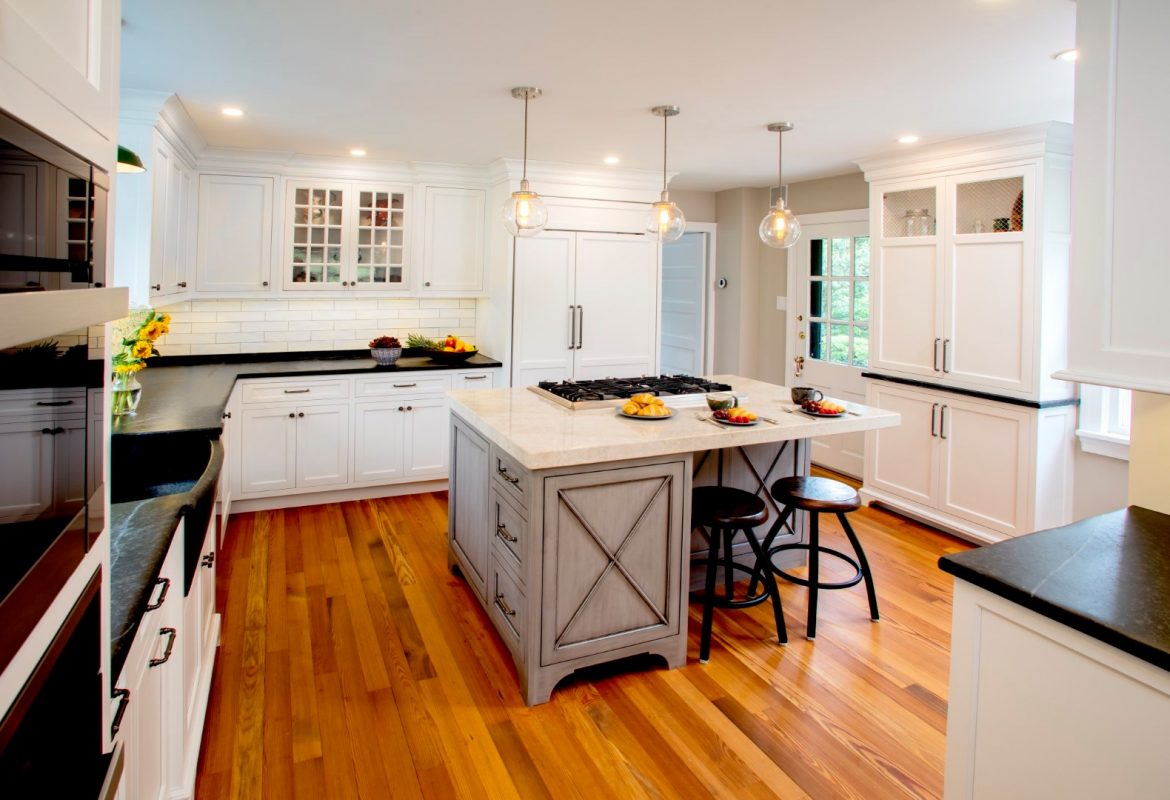 """Aged Soapstone Charm""- Doylestown Farmhouse Kitchen Renovation"