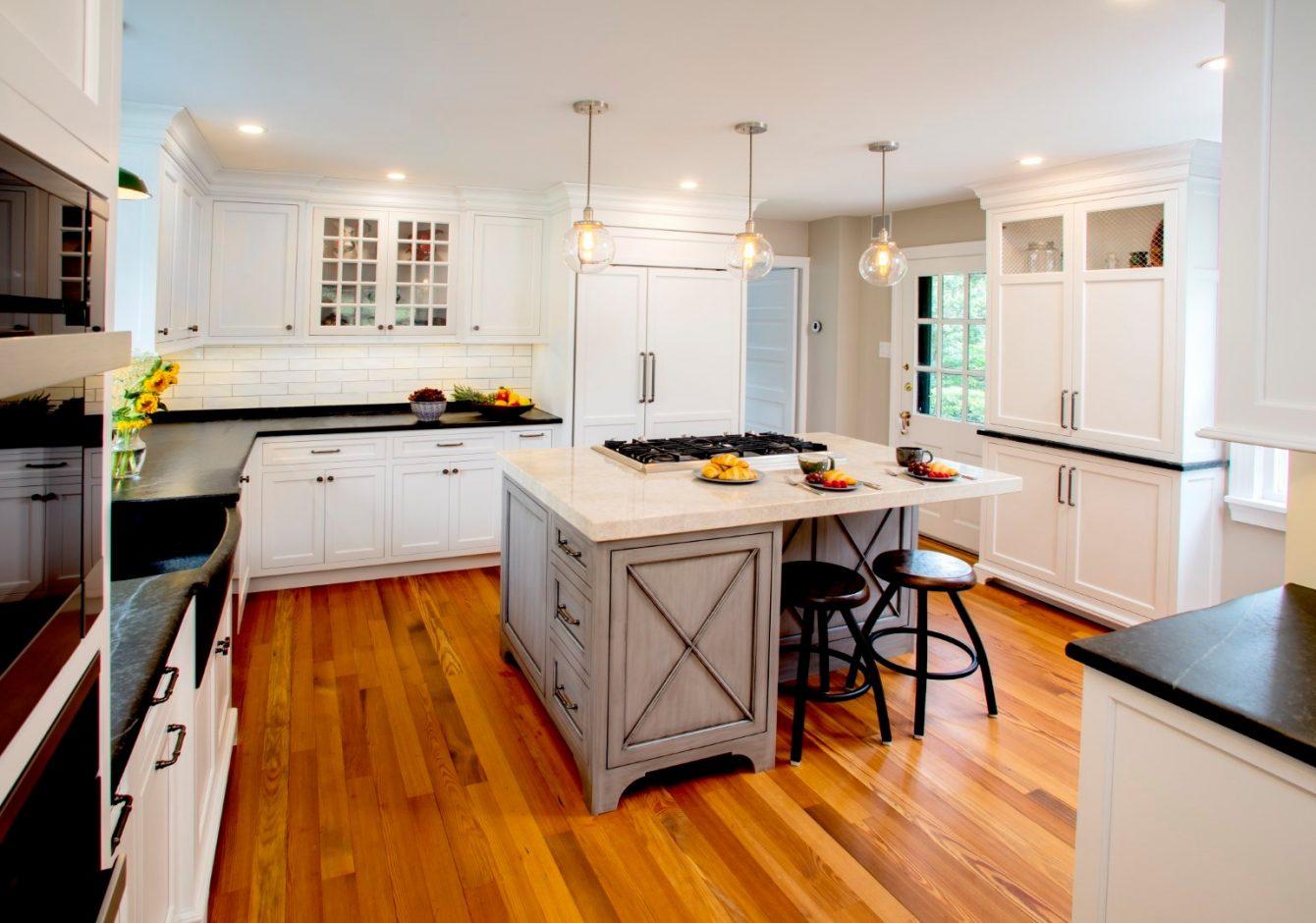 """""""Aged Soapstone Charm""""- Doylestown Farmhouse Kitchen Renovation"""