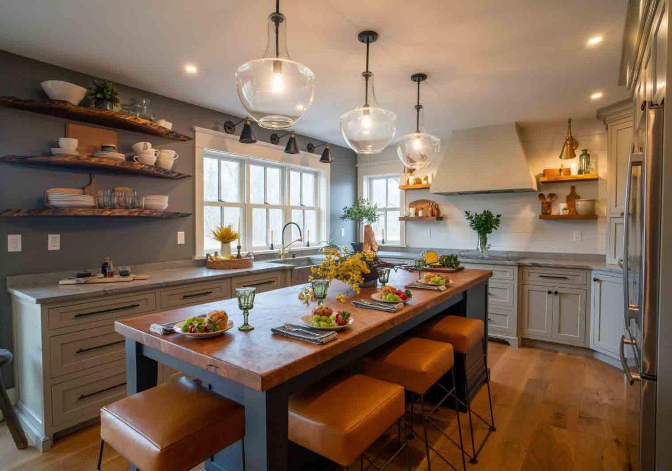 """""""Unique Charm""""- Bedminster Kitchen Renovation"""