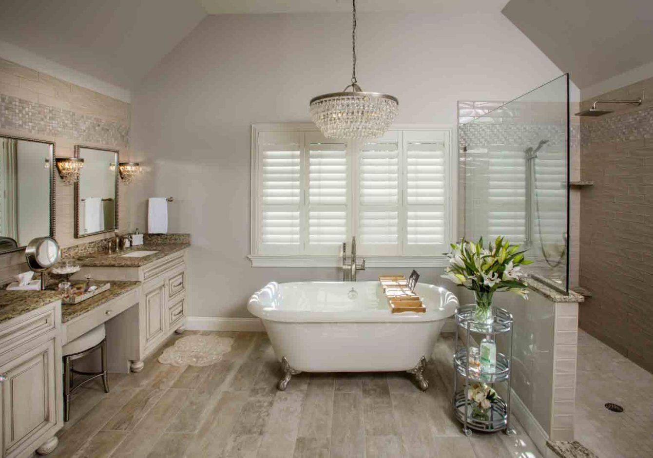 """Sparkling Serenity""- Doylestown Master Bathroom Renovation"